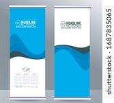 roll up business brochure flyer ... | Shutterstock .eps vector #1687835065