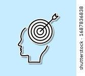 brain  goal  target sticker...