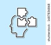 puzzle  strategy  brain sticker ...