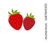 red strawberry vector. organic...   Shutterstock .eps vector #1687845355