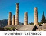Columns Of Apollo Temple In...