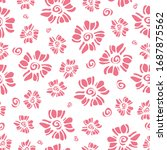 seamless pattern with cute pink ... | Shutterstock .eps vector #1687875562