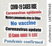 coronavirus pandemic newspaper...   Shutterstock .eps vector #1687880668