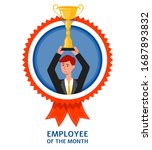 Employee Of The Month Emblem O...