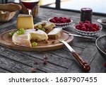 Assortment Of Cheese On A...