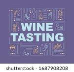 wine tasting word concepts...
