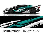 sports car wrapping decal design   Shutterstock .eps vector #1687916272