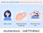 coronavirus covid 19 prevention ... | Shutterstock .eps vector #1687918462