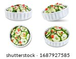 cucumber spice salad with red... | Shutterstock . vector #1687927585