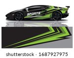 sports car wrapping decal design | Shutterstock .eps vector #1687927975