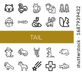 set of tail icons. such as cat  ... | Shutterstock .eps vector #1687939432