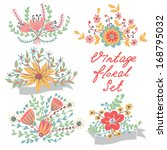 set with decorative vintage... | Shutterstock .eps vector #168795032