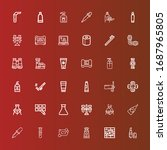 editable 36 tube icons for web... | Shutterstock .eps vector #1687965805