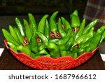 Beautiful Green Chili Basket...