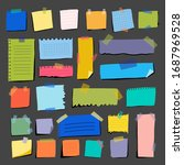 multicolored pieces paper on... | Shutterstock .eps vector #1687969528