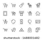 shopping cart vector line icons ... | Shutterstock .eps vector #1688001682