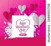 happy valentine day  14... | Shutterstock .eps vector #1688005708