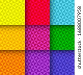 bright triangle patterns. set... | Shutterstock .eps vector #1688007958