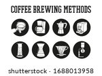 hand drawn coffee brewing... | Shutterstock .eps vector #1688013958