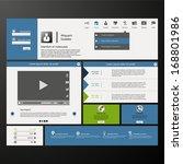 corporate website template.... | Shutterstock .eps vector #168801986