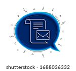 mail letter line icon. chat...   Shutterstock .eps vector #1688036332