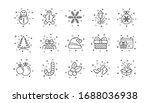 Santa Hat  Snowflake And Gift...