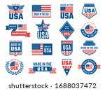made in usa logo. label for... | Shutterstock .eps vector #1688037472