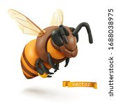 Bee  Bumblebee. 3d Cartoon...