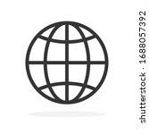 world icon   vector. black... | Shutterstock .eps vector #1688057392