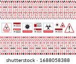 seamless caution warning tape.... | Shutterstock .eps vector #1688058388