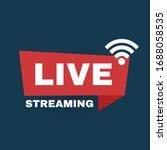 Live Streaming Logo. Online...