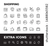 shopping and retail line icon... | Shutterstock .eps vector #1688065582