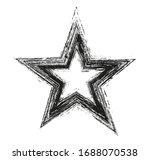 vector grunge star shape icon. | Shutterstock .eps vector #1688070538