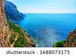 Scenery With Capri Island With...