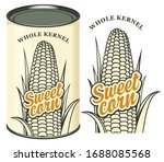 vector banner for canned sweet... | Shutterstock .eps vector #1688085568
