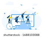 seo content create.people... | Shutterstock .eps vector #1688103088