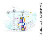 brand building concept. tiny...   Shutterstock .eps vector #1688106265