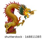 chinese style dragon statue | Shutterstock . vector #168811385