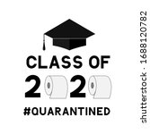 class of 2020 funny typography...   Shutterstock .eps vector #1688120782