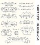 vintage calligraphy elements... | Shutterstock .eps vector #168812858