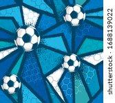 abstract seamless football... | Shutterstock .eps vector #1688139022