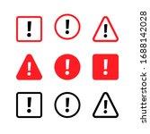 set warning sign. danger... | Shutterstock .eps vector #1688142028