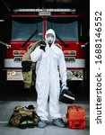Firefighter In White Protective ...