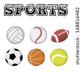 vector set of different sports... | Shutterstock .eps vector #168816482