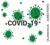 virus and covid 19 text in the...   Shutterstock .eps vector #1688195092