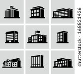 buildings icons | Shutterstock .eps vector #168821426