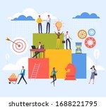 work organisation teamwork... | Shutterstock .eps vector #1688221795
