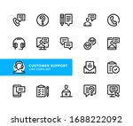 customer support vector line... | Shutterstock .eps vector #1688222092