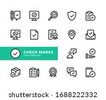 check marks vector line icons.... | Shutterstock .eps vector #1688222332