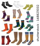 set of men's socks isolated on ... | Shutterstock .eps vector #168825032